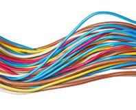 El alambre eléctrico aislado en un fondo blanco Imagen de archivo libre de regalías