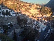 EL AlbaicÃn, Granada-Dachspitze schoss lizenzfreies stockbild