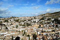 El Albaicin (Granada). El Albaicín is a district of Granada, in Andalusia, Spain, that was declared a world heritage site in 1984 Stock Photography