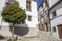 El Albaicin, traditional neighborhood in Granada, Spain.  royalty free stock images