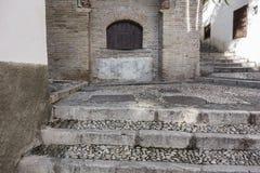 El Albaicin, traditional neighborhood in Granada, Spain.  royalty free stock photo