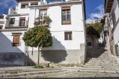 El Albaicin, traditional neighborhood in Granada, Spain.  stock photos