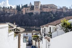 El Albaicin, traditional neighborhood in Granada, Spain.  royalty free stock image