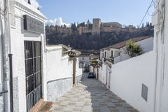 El Albaicin, traditional neighborhood in Granada, Spain.  stock images