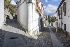 El Albaicin, traditional neighborhood in Granada, Spain.  stock photo