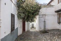 El Albaicin, traditional neighborhood in Granada, Spain.  royalty free stock photos