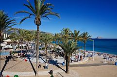 El Albir plaża zdjęcie stock