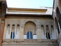 El Alcazar verdadero en Sevilla, España Imagen de archivo