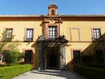 El Alcazar verdadero en Sevilla, España Imagenes de archivo