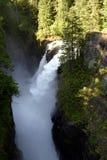 El alce cae opinión de alto ángulo de Campbell River fotos de archivo