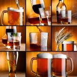 El alcohol bebe el collage Imágenes de archivo libres de regalías