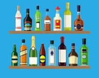 El alcohol bebe la colección ilustración del vector