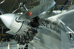 El alcohol de Charles Lindbergh de los aviones de St. Louis en exhibt imagen de archivo libre de regalías