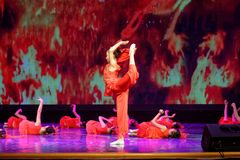 El alcohol de la exposición de enseñanza de clasificación Jiangxi del logro de los niños de la prueba de la academia de la danza  Fotografía de archivo libre de regalías