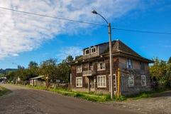 El alcohol y unicidad, isla de Chiloé, Chile de Chiloé imagenes de archivo