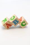 El alfabeto bloquea ABC Fotografía de archivo libre de regalías