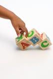 El alfabeto bloquea ABC Imágenes de archivo libres de regalías