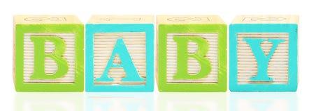 El alfabeto bloquea al BEBÉ Foto de archivo