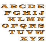 El alfabeto bloquea claramente en el backgroud blanco fotos de archivo
