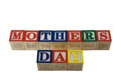 El alfabeto bloquea día de madres del deletreo Imágenes de archivo libres de regalías