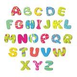 El alfabeto de los niños brillantes Fotografía de archivo libre de regalías