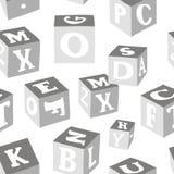 El alfabeto de madera bloquea el modelo ilustración del vector
