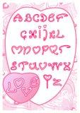 El alfabeto del amor stock de ilustración