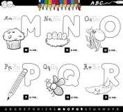 El alfabeto educativo de la historieta pone letras al libro del color stock de ilustración