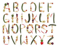 El alfabeto formó por los vehículos libre illustration