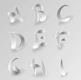 El alfabeto gráfico de papel del vector fijó 1 stock de ilustración