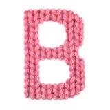 El alfabeto inglés de la letra B, colorea rojo Fotografía de archivo libre de regalías