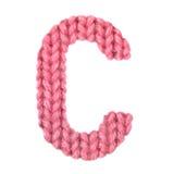 El alfabeto inglés de la letra C, colorea rojo Imagen de archivo