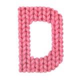 El alfabeto inglés de la letra D, colorea rojo Fotos de archivo libres de regalías