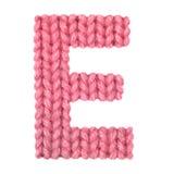 El alfabeto inglés de la letra E, colorea rojo Imágenes de archivo libres de regalías