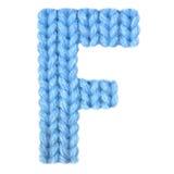 El alfabeto inglés de la letra F, colorea el azul Imagenes de archivo
