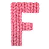 El alfabeto inglés de la letra F, colorea rojo Foto de archivo libre de regalías