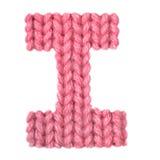 El alfabeto inglés de la letra I, colorea rojo Fotografía de archivo
