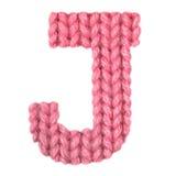 El alfabeto inglés de la letra J, colorea rojo Imagen de archivo