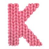 El alfabeto inglés de la letra K, colorea rojo Foto de archivo libre de regalías