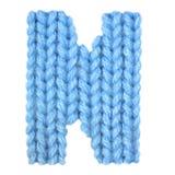 El alfabeto inglés de la letra N, colorea el azul Imagen de archivo libre de regalías