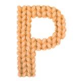El alfabeto inglés de la letra P, colorea la naranja Imagen de archivo