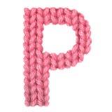 El alfabeto inglés de la letra P, colorea rojo Imagen de archivo
