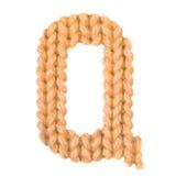 El alfabeto inglés de la letra Q, colorea la naranja Fotografía de archivo libre de regalías