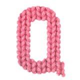 El alfabeto inglés de la letra Q, colorea rojo Imagen de archivo libre de regalías