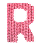 El alfabeto inglés de la letra R, colorea rojo Fotos de archivo