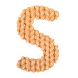 El alfabeto inglés de la letra S, colorea la naranja Foto de archivo