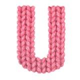 El alfabeto inglés de la letra U, colorea rojo Imagen de archivo