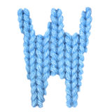 El alfabeto inglés de la letra W, colorea el azul Fotos de archivo
