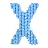 El alfabeto inglés de la letra X, colorea el azul Imagen de archivo libre de regalías