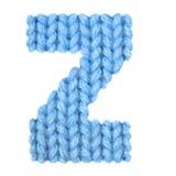 El alfabeto inglés de la letra Z, colorea el azul Imágenes de archivo libres de regalías